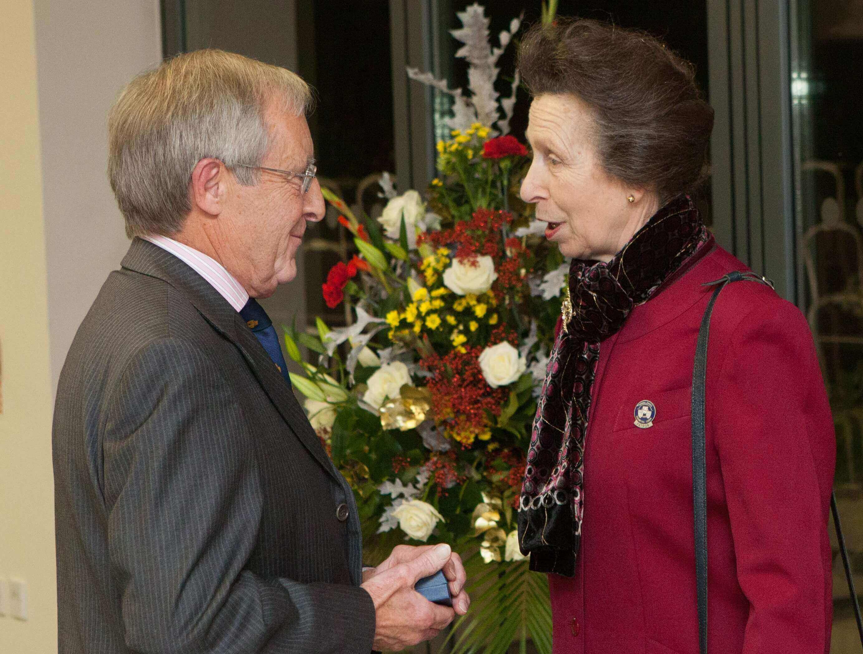 Chris Southgate receiving his Honorary Life Governorship from HRH The Princess Royal.jpg