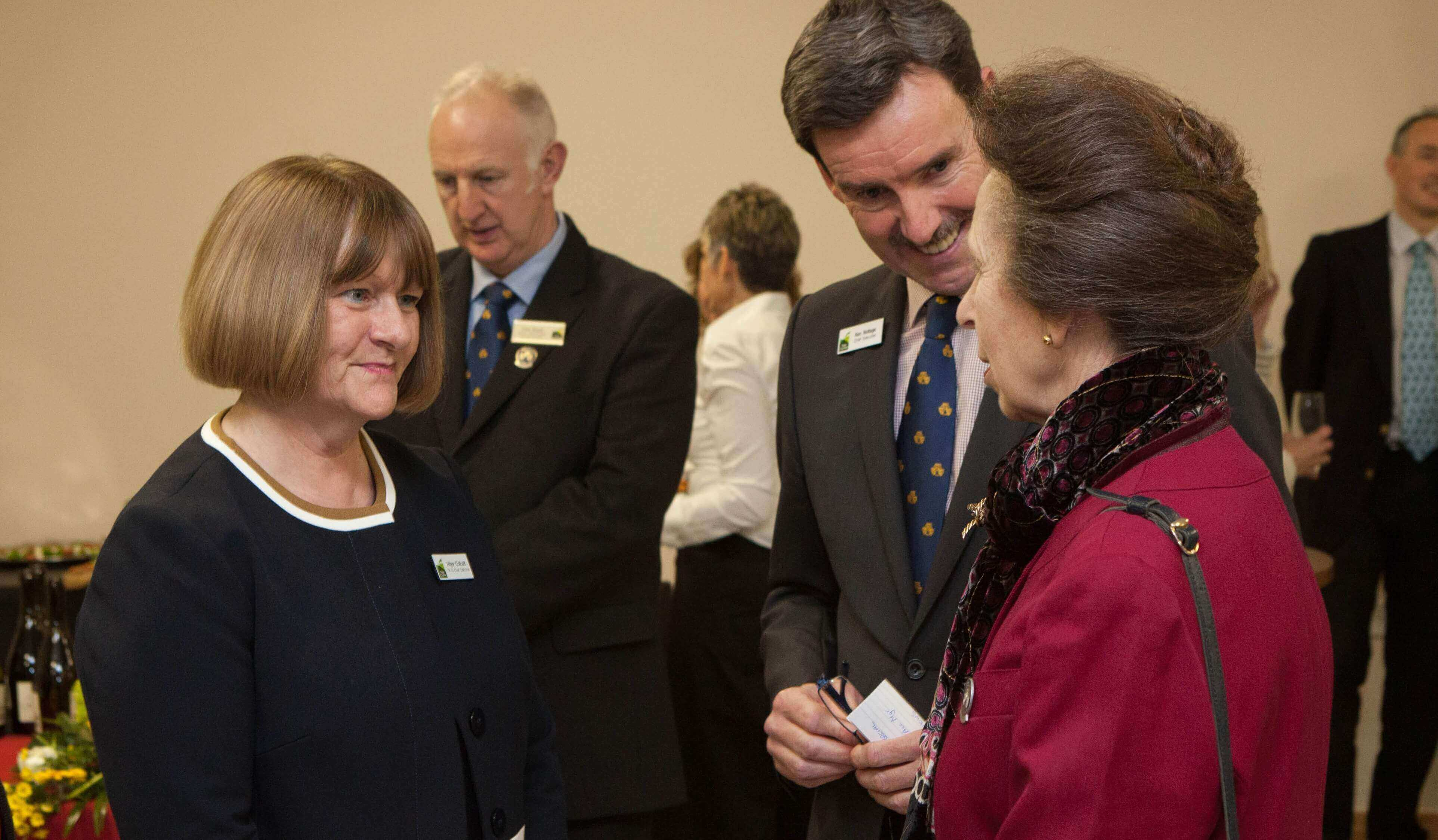 Hilary Collcott - PA to CE Three Counties, Ken Nottage CE Three Counties meeting HRH The Princess Royal.jpg