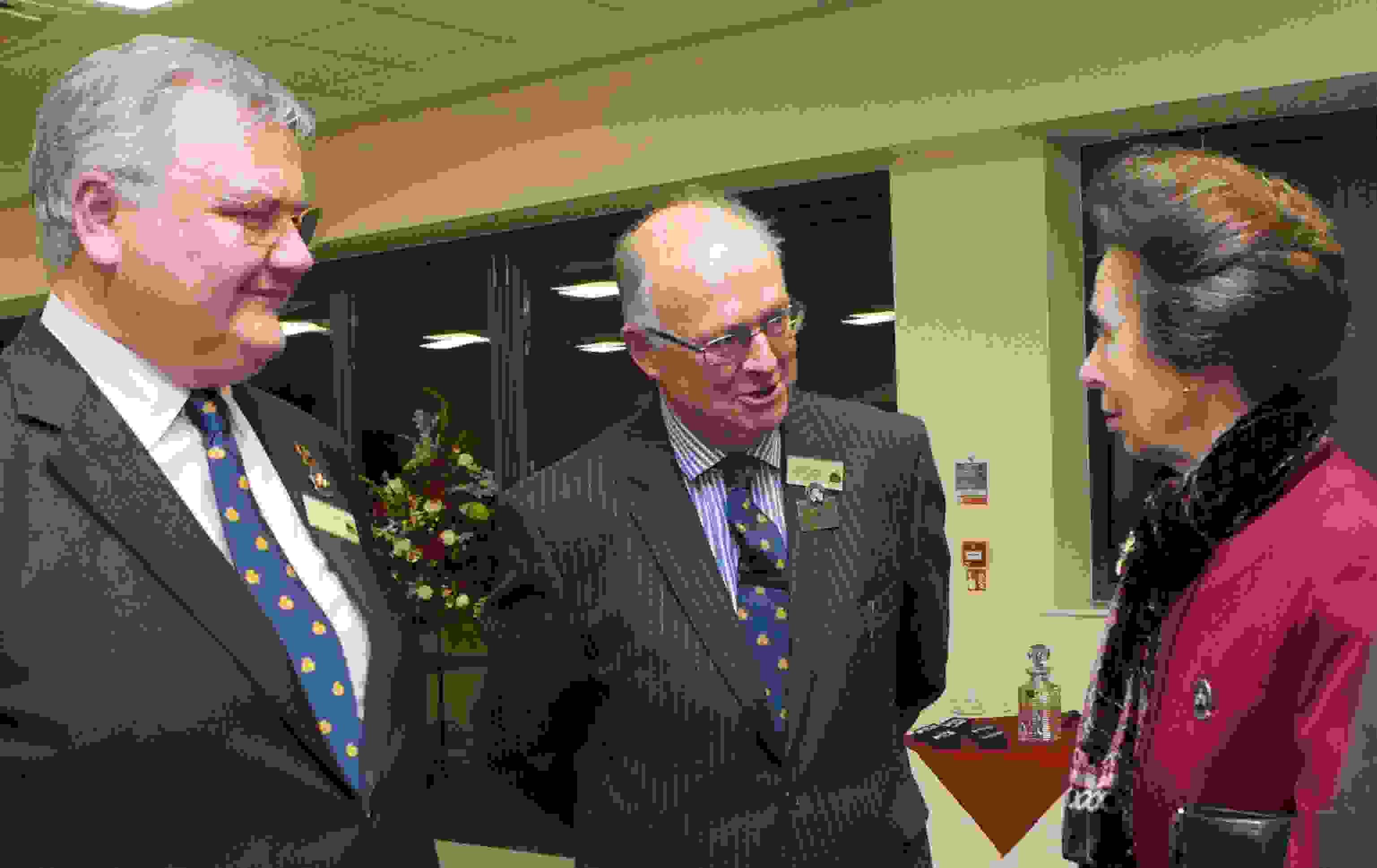 HRH The Princess Royal meeting David Owens and Glynn Morgan Three Counties Council.jpg