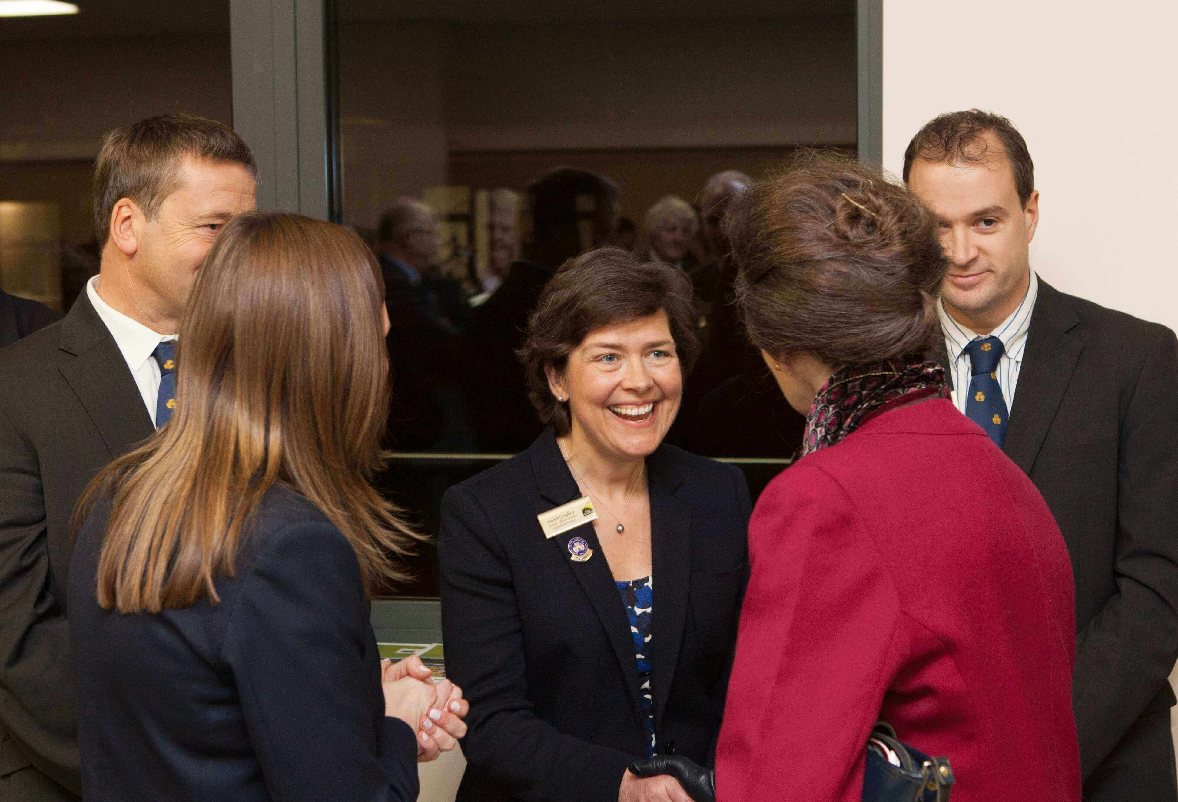 HRH The Princess Royal meeting Helen Smalley Three Counties Council.jpg