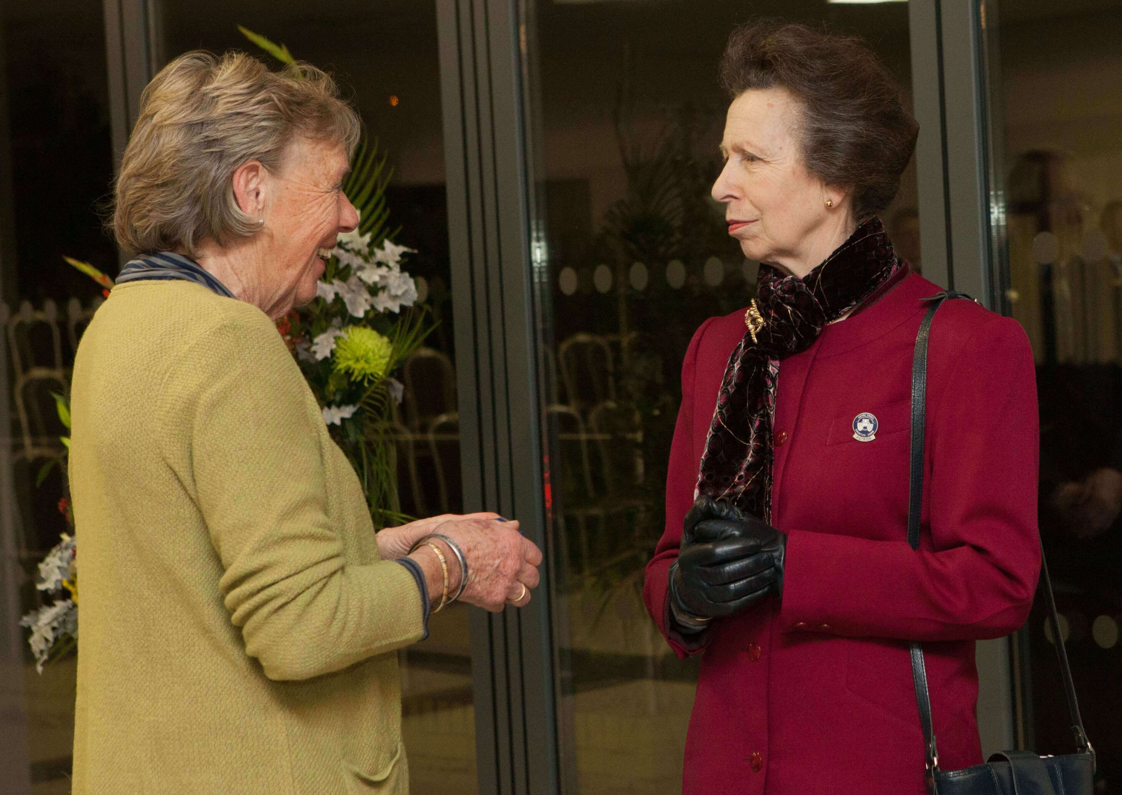 Barbara Norman receiving her Honorary Life Governorhship from HRH The Princess Royal.jpg